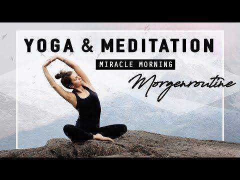 Yoga & Meditation Morgenroutine | Selbstbewusst, Positiv & Dankbar in deinen Tag starten! – YouTube