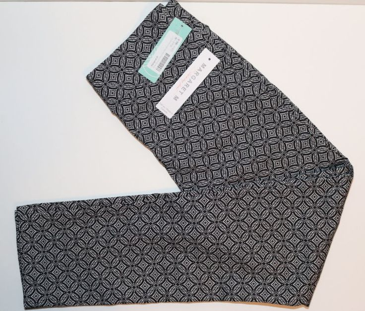 """NWT! Margaret M for Stitch Fix """"Emer Jacquard Print High Waisted Cropped Pant"""" M #MargaretM #PullOn"""