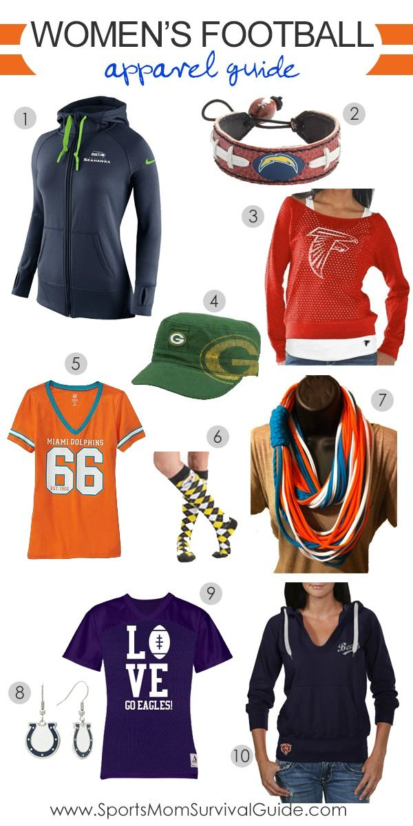 Great football apparel for women! Fun stuff to wear to support your favorite team!
