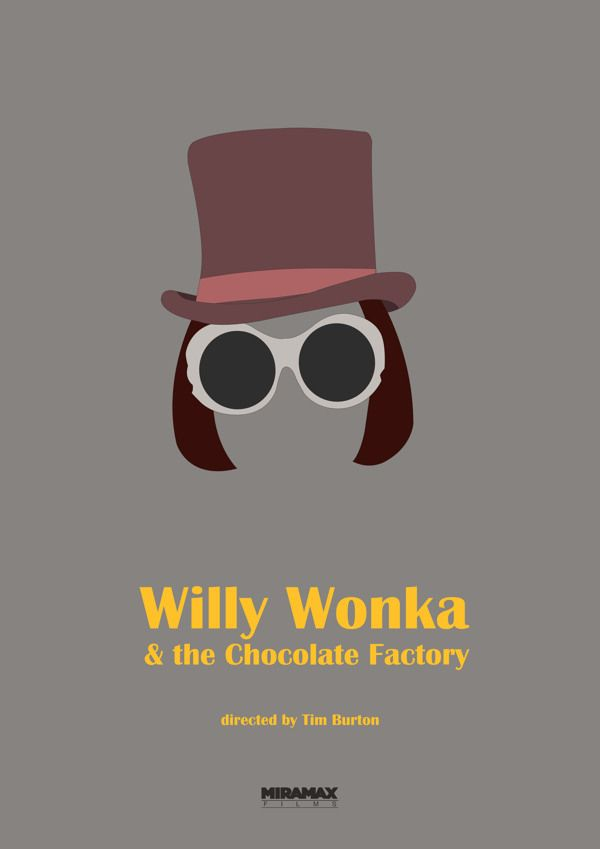 Charlie and the Chocolate Factory (2005) #MinimalistMoviePosters