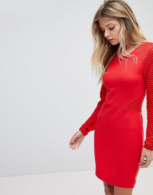 b7d6e313122b10 French Connection Jersey Panel Bodycon Dress