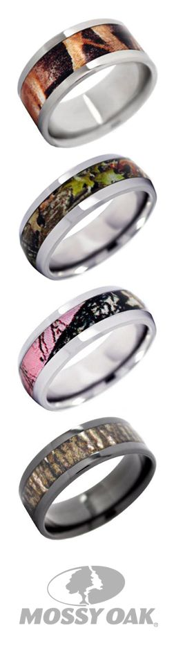 Search Mossy Oak on the Reeds website to find these Mossy Oak rings and more available in several different camo patterns! #mossyoak #weddingrings