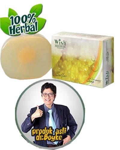 Sulfur Soap Transparant Wish Dr Boyke. Sabun sulfur asli original dari dokter boyke.