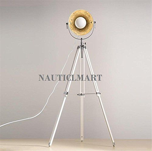 91 best designers industrial searchlight floor lamp images on white tripod floor lamp wrought iron lamp shades lamp bas https aloadofball Images