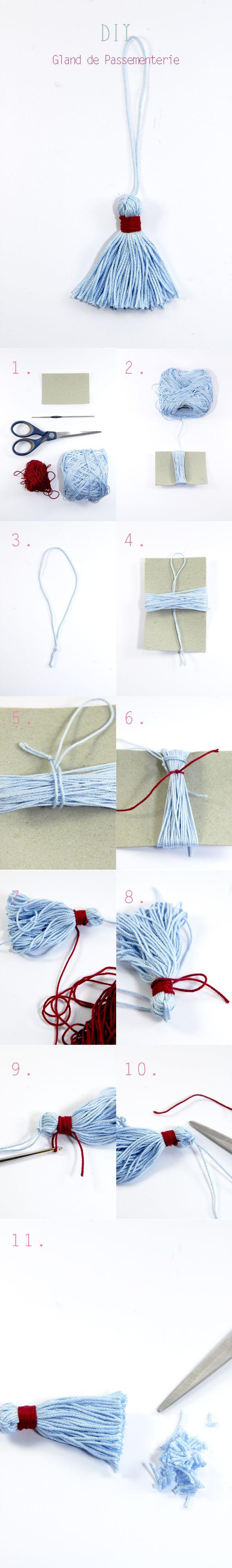 DIY gland de passementerie ou pompon