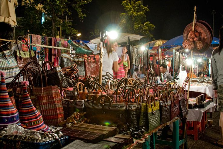 Chiang Mai's Night Market Bazaar/ Address: Tha Phae Rd, Mueang Chiang Mai District, Chiang Mai, Thailand