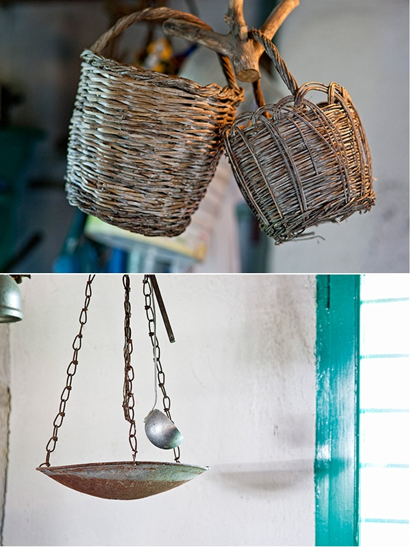 Details from the interior of a farmhouse in Paros
