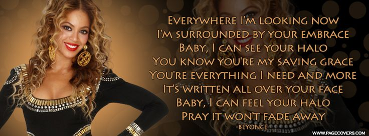 Beyonce Halo Lyrics Facebook Cover | Music Facebook Covers ...