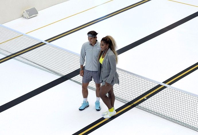 Nadal e Serena Willians Tênis Piscina (Foto: Agência AFP )