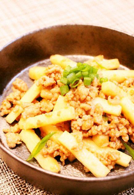 早ウマ☆長芋とミンチの簡単炒め☆ by Dellaたん [クックパッド] 簡単おいしいみんなのレシピが220万品