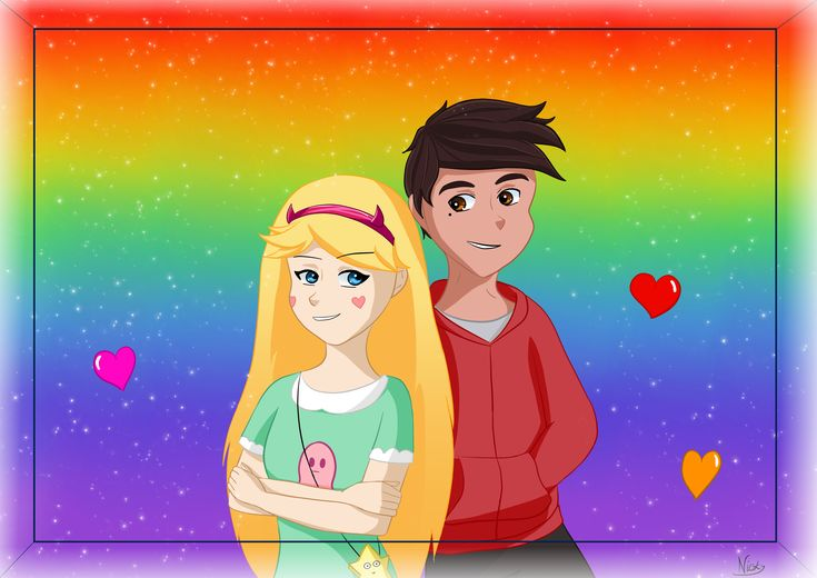Marco has something wrong with his face ;-;  But... idk what xD  Star & Marco from Star vs th forces of evil