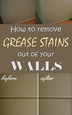 How to remove grease stains out of your walls - Cleaning-Ideas.com ==