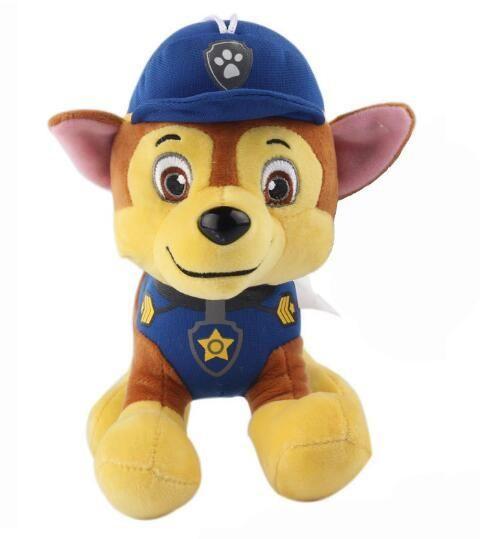 "2017 HOT 8"" 20cm Patrol Dog Toys Patrulla Canina Puppy Canine Pat Toy Pow Pet Patrulha Pata Plush Ryder Chase Marshall Skye"