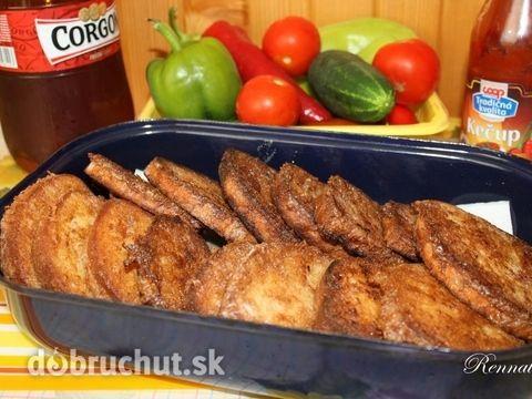 Fotorecept: Cesnakové hrianky v pivnom cestíčku - Klasické vajíčkové chlebíky som vylepšila cesnakom a pivom, krásne voňajú a výborne...