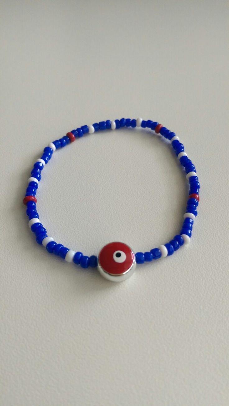 Bracelet ❤ navy evil eye