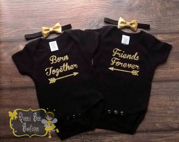 twin girl outfit twin girl outfits twin by QueenBeeBoutique127