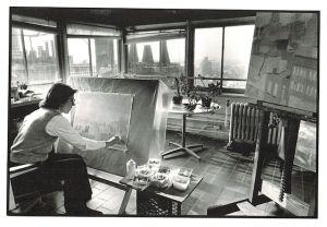 Jane Freilicher in her studio in 1984.  Nancy Crampton.