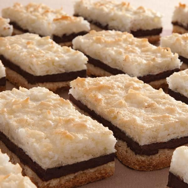 This chocolate macaroo recipe will become a family favorite. Chocolate Macaroon Layered Bars Recipe from Grandmothers Kitchen.