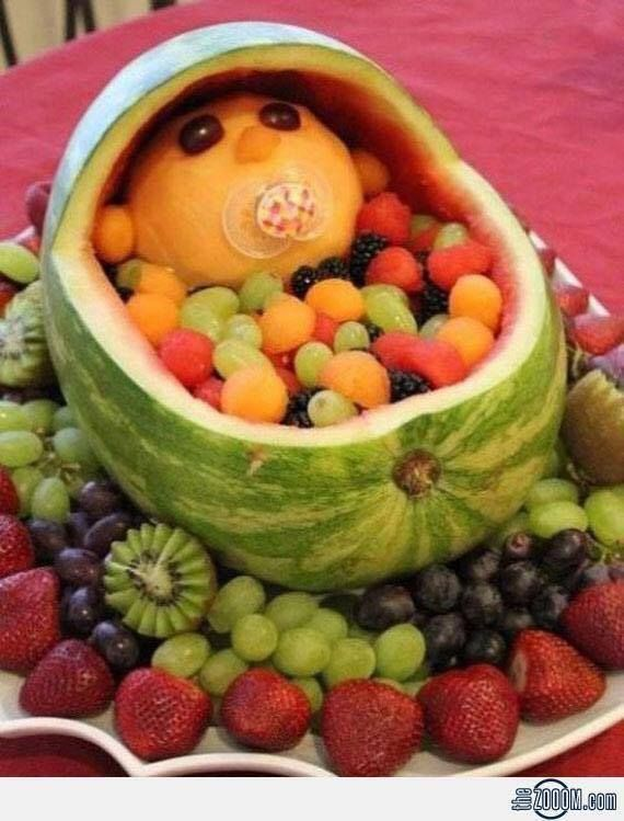 Some funny fruit enrichment to our monkey and ape friends and humans :-)