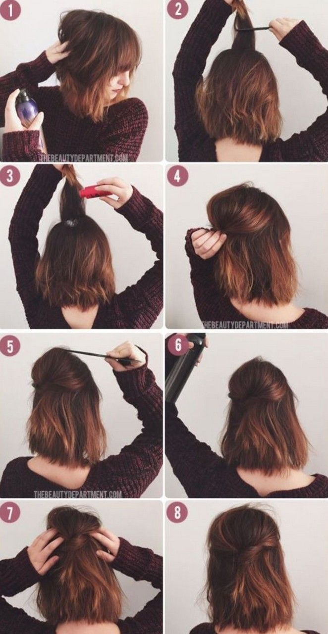 100 Cool Hair Style Ideas You Can Try At Home Page 13 Myblogika Com Diy Hairstyles Short Hair Styles Hair Styles