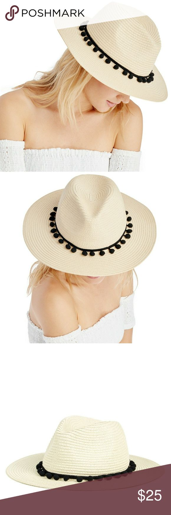 Last chance! Sole Society Straw Hat with Pompoms Brand New with tag! Sole Society Straw Panama Hat  -add vacation vibes to this look with a lighweight straw hat designed with a stylish pompom band! Sole Society Accessories
