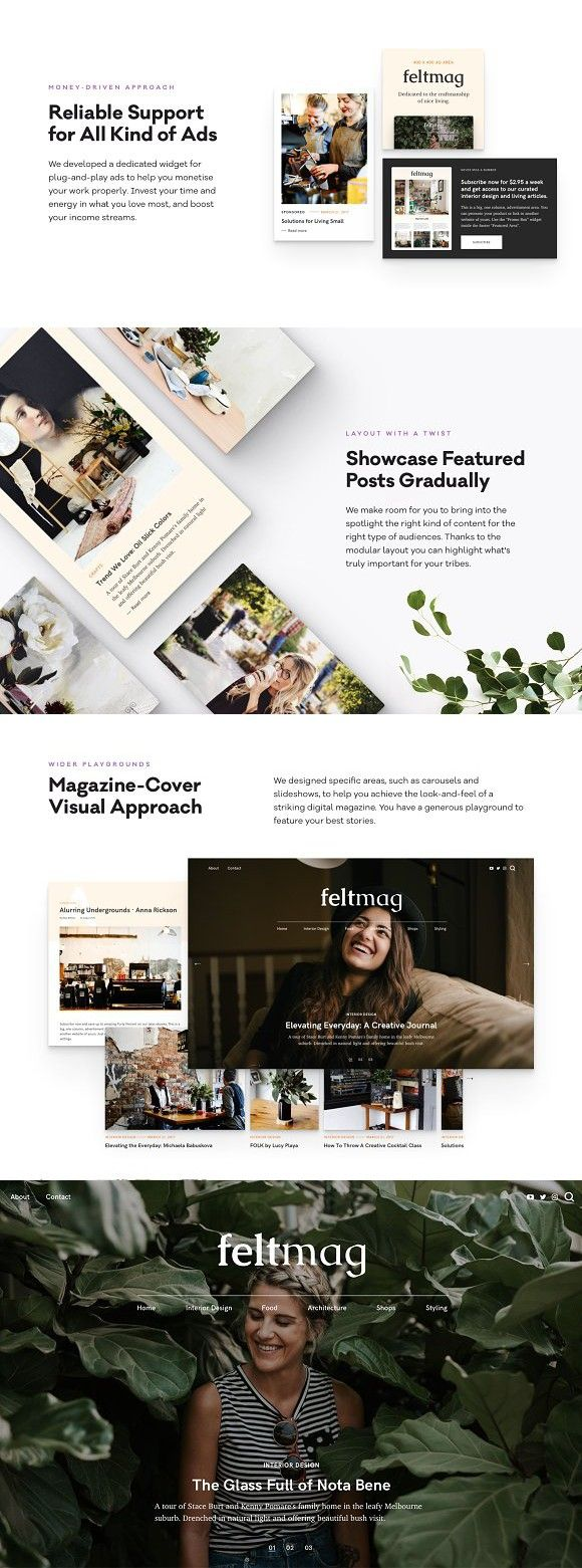 Felt - Magazine Style Theme. WordPress Magazine Themes