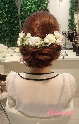 かわいい花嫁さまのアップで統一3スタイル♡リハ編 |大人可愛いブライダルヘアメイク『tiamo』の結婚カタログ|Ameba (アメーバ)