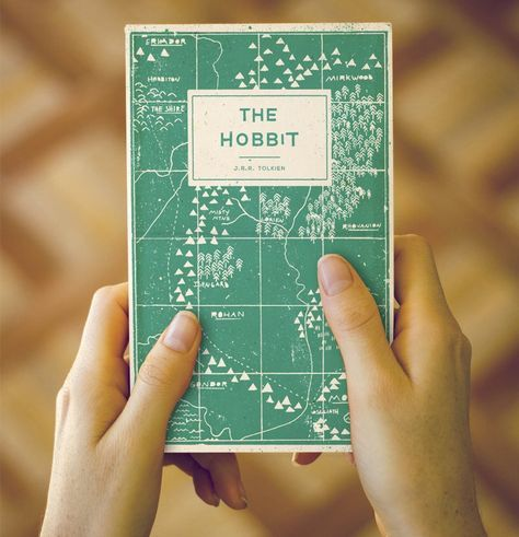 Really like this cover design. Such a good book! Adam Busby design for the cover of The Hobbit.