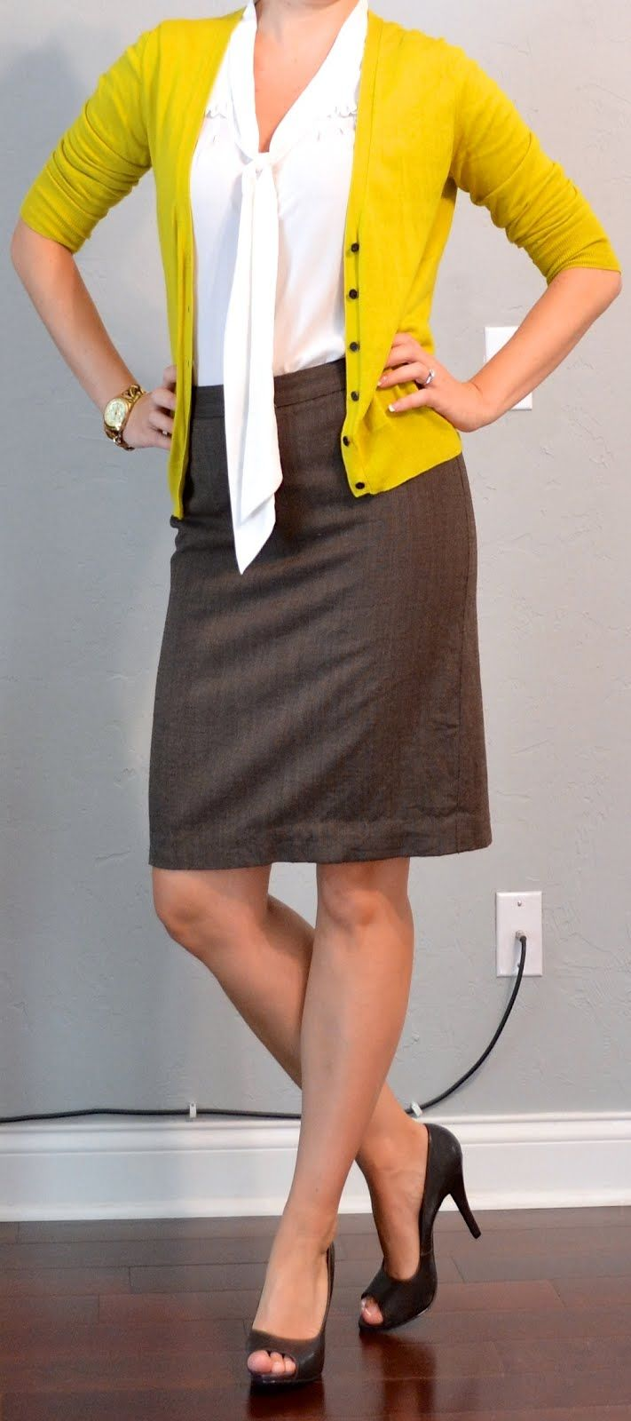 54 best Summary: Work Uniform - Pencil Skirts & Cardigan images on ...
