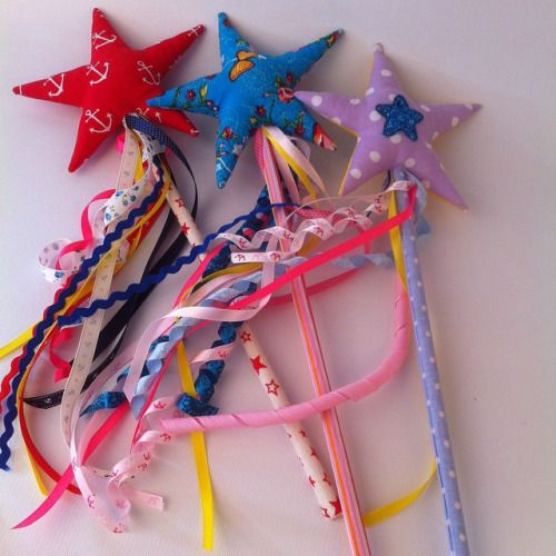 Here there come, Brand new, magic star wands from Hola Lotta, all about star and ribbons! #wand #starwands #magic #magicwand