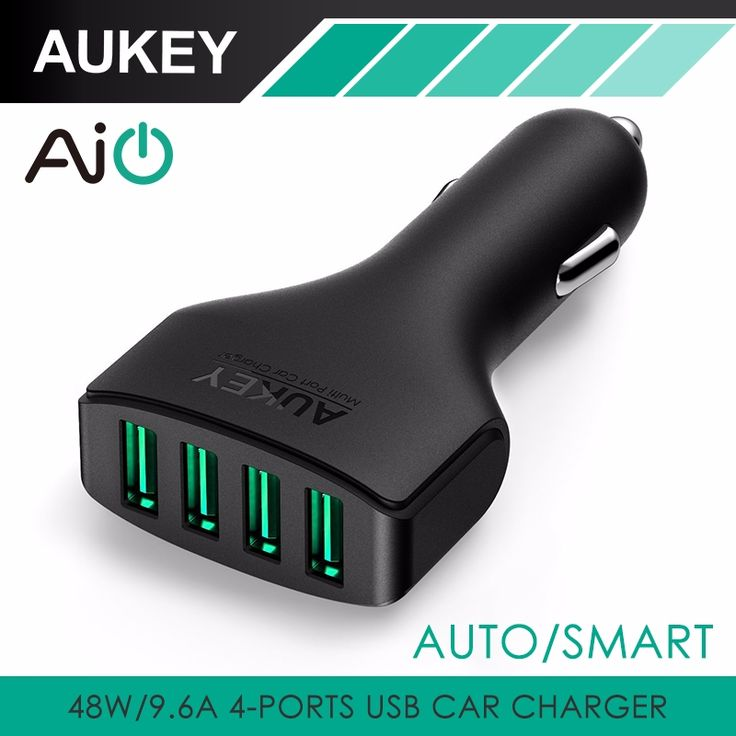 This Is a Great Fathers Day Gift, Order Now To Receive Gift In Time For Fathers Day !! Aukey 4 Ports USB Car Charger Adapter Universal