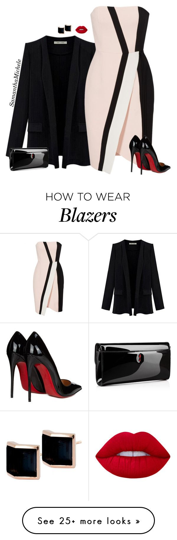 """Untitled #455"" by samanthamichele on Polyvore featuring J. Mendel, Christian Louboutin, Kattri and Lime Crime"