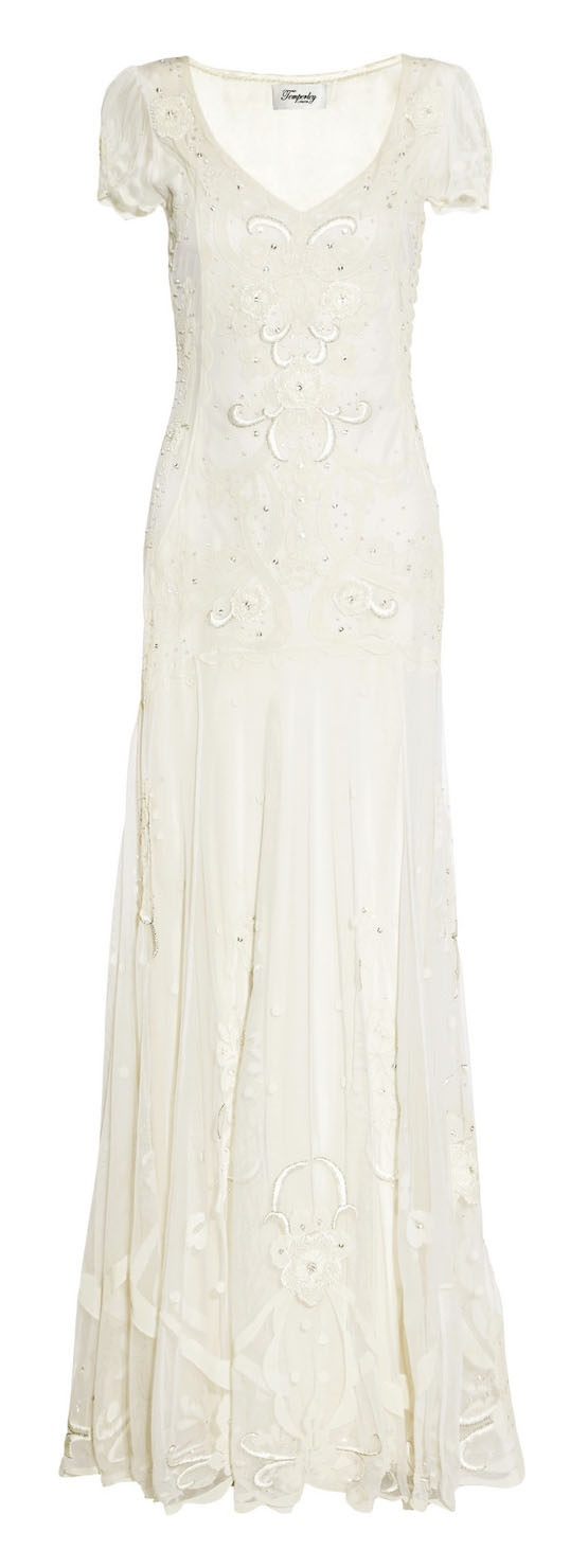 Temperley London Woman Leaf Appliquéd Tulle Mini Dress White Size 14 Temperley London jGCyy
