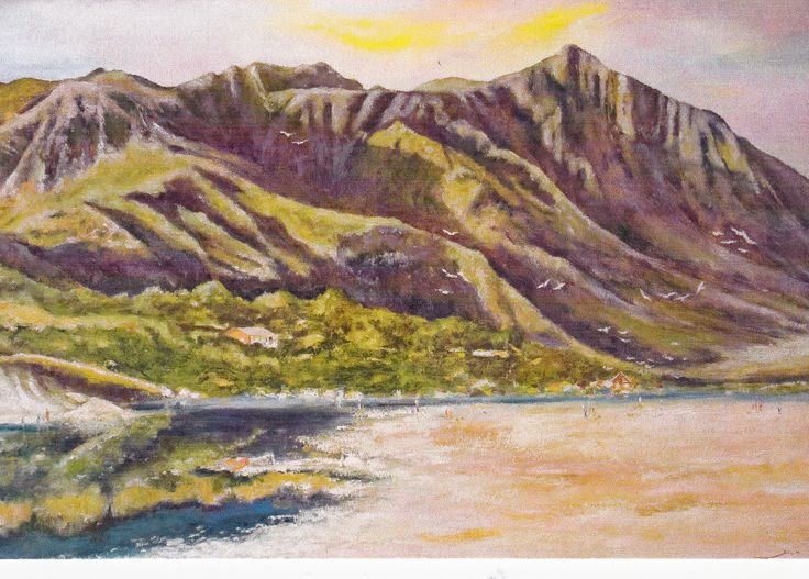 When Rossi's was refurbished in 2012, Leon Muller of Art Thirst was commissioned to do the artwork.  This is one of his Hermanus pictures.