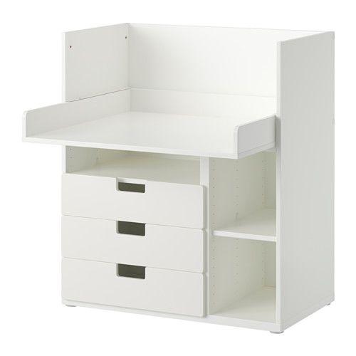 IKEA - STUVA, Psací stůl se 3 zásuvkami, bílá,