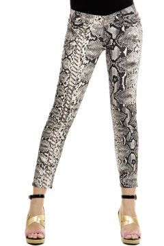 """JUST CAVALLI Logo, Print, Made in italy, Low waisted, Straight-cut leg, Button &zip fly closure, Printed pattern, Multi-pocketed light gray [Art. """"S05LA0001 N35232 004""""]."""