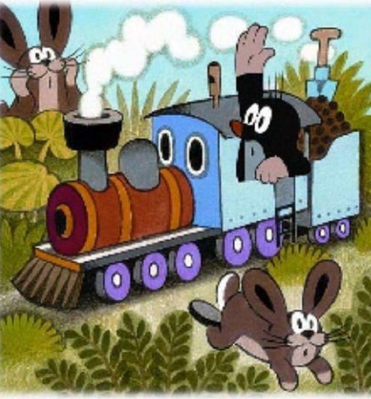 Illustration Zdeněk Miler . Little Mole