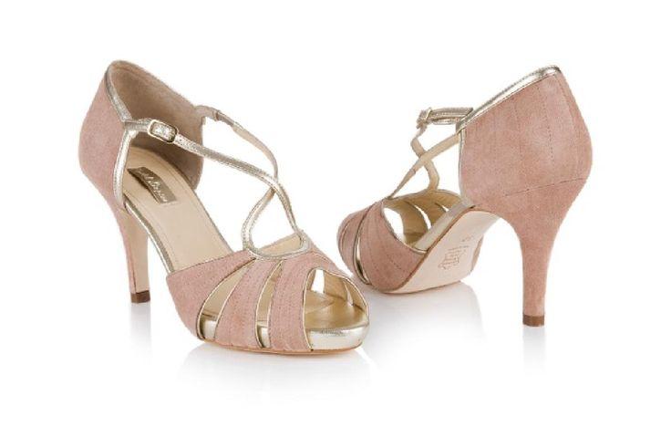 Debenhams Shoes Suede Dusky Pink