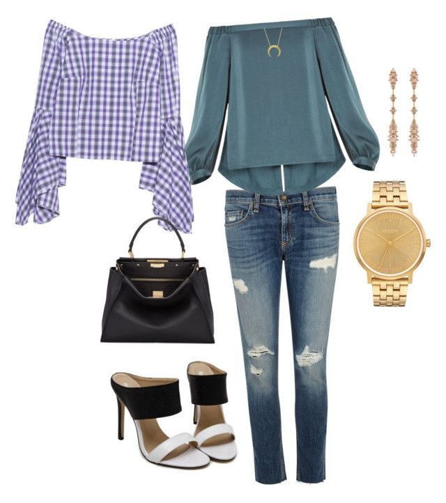 """""""Weekend evening outing outfits"""" by stormpebble on Polyvore featuring rag & bone/JEAN, BCBGMAXAZRIA, Petersyn, Fendi, Fernando Jorge and Nixon"""