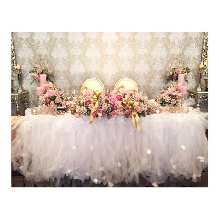 #メイン装花 * こだわりにこだわりました笑 パーフェクトな完璧な可愛さ❤ #大満足✨✨✨ #ありがとうございました #感謝✨ * お花の打ち合わせ1番長くなっちゃった *॰⋆˖˖॰⋆˖॰⋆˖*॰⋆˖˖॰⋆˖*॰⋆˖˖॰⋆˖॰⋆˖* #weddingdress#wedding#結婚式#卒花#洋装#ウェディングフォト#hywedding#装花#ウェディング#bridal##2017春婚#高砂#高砂装花#会場装飾#チュール高砂#メインテーブル