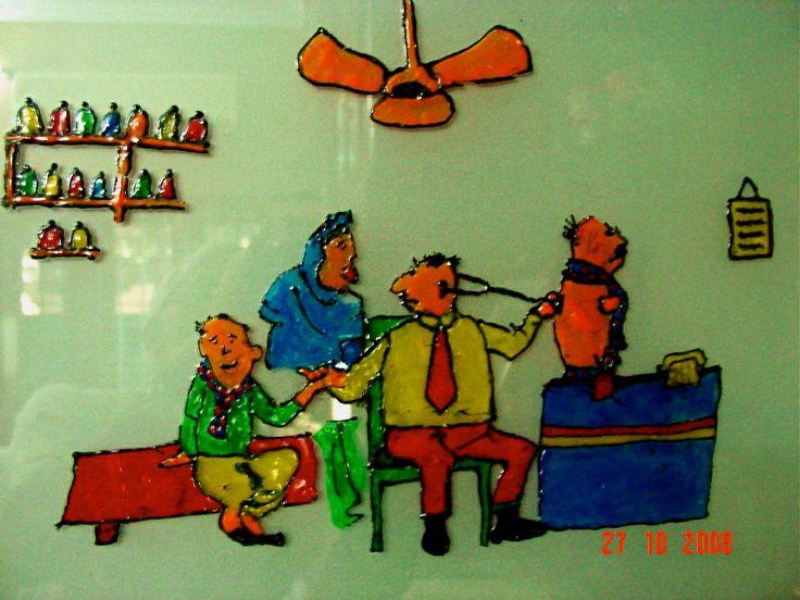 Inspired by R.K.Laxman cartoon - an Asmi creation