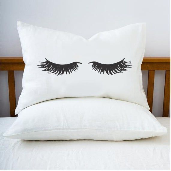 Personalized Pillow Case Beautiful Sleeping Beauty Closed Etsy Eyelash Pillow Personalized Pillow Cases Personalized Pillows