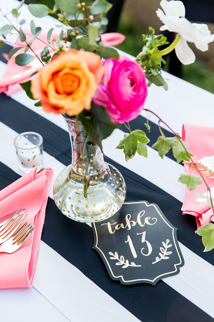 25 Cute Striped Wedding Ideas On Pinterest Stripe Black And White Party Decorations Decor