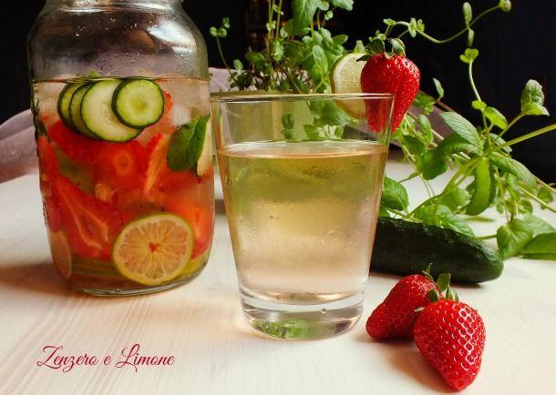acqua aromatizzata rinfrescante