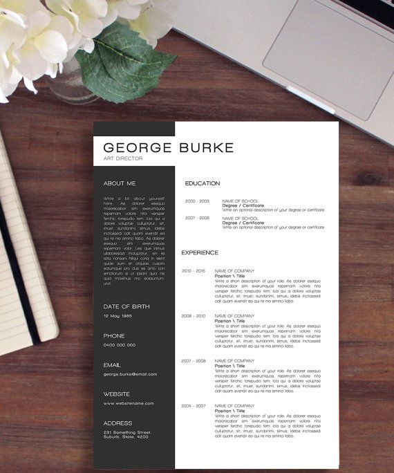 8 best Dots Simple Resume Template images on Pinterest Polka - sanford brown optimal resume