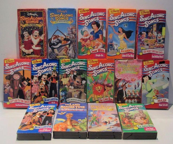 Lot 15 Disney Sing Along VHS Tapes Peter Pan Christmas Pocahontas Snow White Etc
