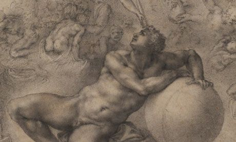 Michelangelo's masterpiece The Dream is one of the greatest of all Renaissance    Drawings.   Michael Angelo