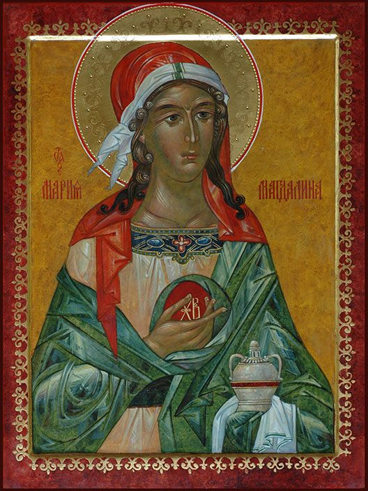 St. Mary Magdalene, feast day is July 22 :)