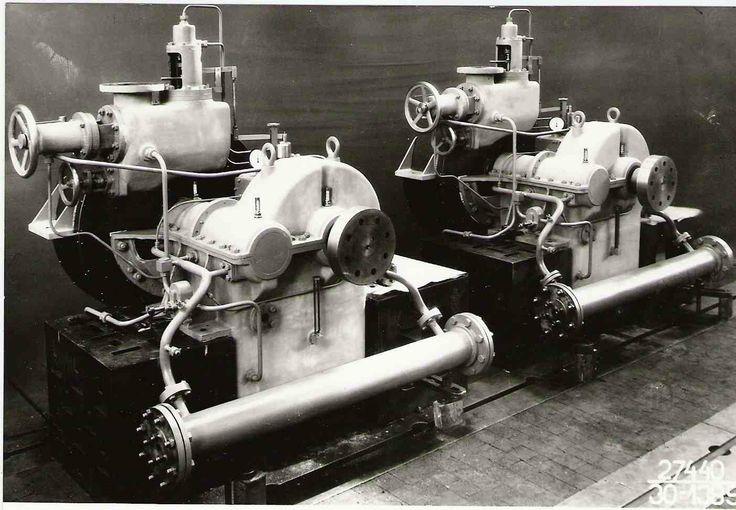 1936 Škoda Plzeň. Čelní rychloběžná převodová skříň s turbínou.