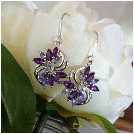 Sterling Silver Earrings Dangle Earrings by LenaMayJewelley